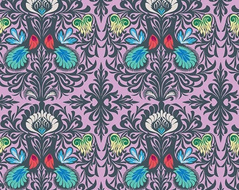 It Takes Two in Violet by Amy Butler from the Soul Mate collection for Free Spirit #CPAB004.8AQUA by 1/2 yard