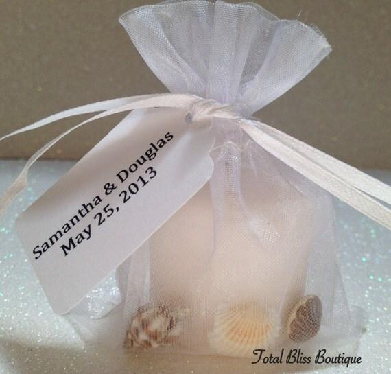 Beach Wedding Favors: Items Similar To 10 Candle/Sea Shell Wedding Favors, Beach