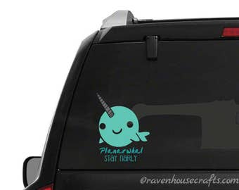 Planarwhal Vinyl Decal - Narwhal Decal - Team Narwhal- Planarwhal Decal - People Over Planners Decals - POP House Decal - People > Planners