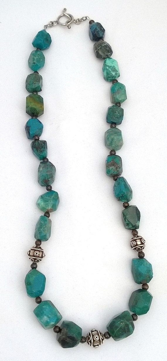 Chrysocolla and Bronzite Necklace, Chrysocolla Necklace