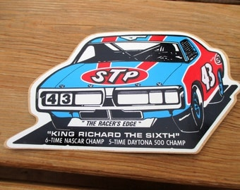 1976 STP Richard Petty 43 Car Decal Sticker