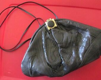 SALE ~  Authentic VINTAGE SHARIF snake skin purse,  vintage bag,  like new
