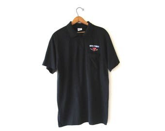 Vintage 1990s SSPS Spectrum Rainbow Polo Shirt Sz XL