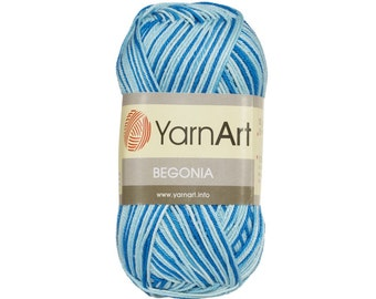 YarnArt BEGONIA MELANGE. Summer yarn. Mercerized cotton. MELANGE yarn.