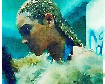 Beyonce Lemonade Watercolor Print