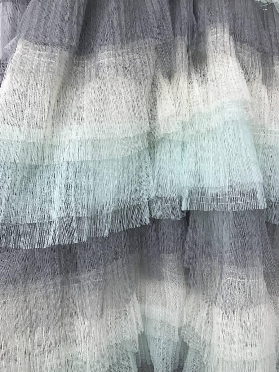 White lace texture bridal layered ruffled -  18 99