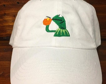 Kermit the Frog - But that's none of my business - Embroidered Adult adjustable hat