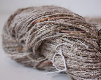 NEW***Handspun Recycled Mulberry Silk - Natural