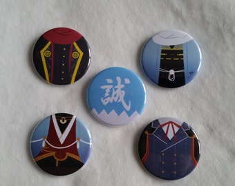 "Touken Ranbu - Shinsengumi - 1 3/4"" Button(s)"