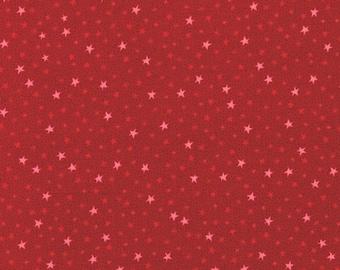 RJR Fabrics Festive Fun 2781 04 Red Stars Yardage by Lynette Anderson