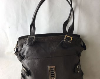 Luxury Leather Grey Mulberry Bag