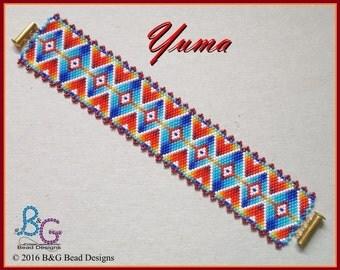 YUMA Peyote Cuff Bracelet Pattern