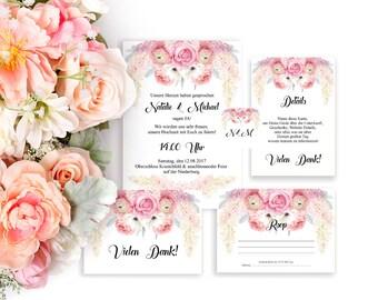 lilas boda de boda tarjetas boda para imprimir tarjetas digitales serie