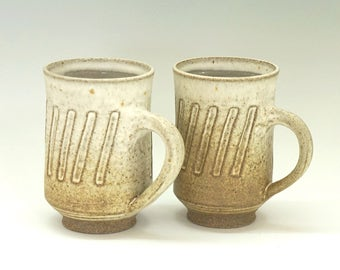 Ceramic mugs, tall mugs, coffee mug, handmade mug, stoneware, high fired