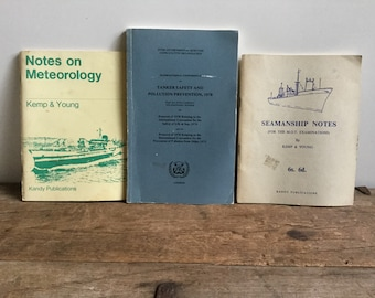 Seamanship and Meteorology Note Books Set Tanker Safety