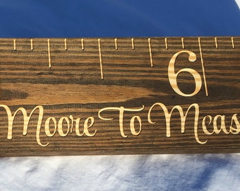 Carved Wooden Growth Chart Ruler, Kids Growth Chart, Giant Ruler, Measuring Stick, Ruler, Wooden Growth Chart, Custom, Personalized, Height