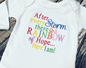 Rainbow Baby Onsie Baby Embroidered Personalized