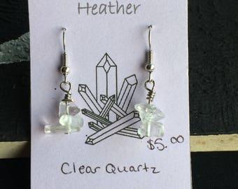 Clear Quartz Chip Earrings