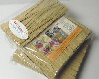 "2000pcs 4"" Paper Twist Ties - 9 colors for choice"