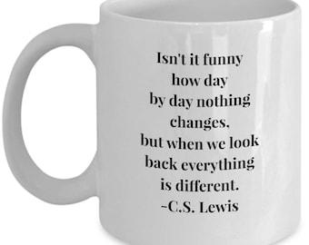 CS Lewis with your tea! Novelty mug for the anyone.