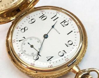 Waltham Antique 14k Mint Condition Pocket Watch