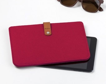 iPad Case - iPad Mini Cover - iPad Mini Leather - iPad Leather Felt Case - iPad Mini Sleeve