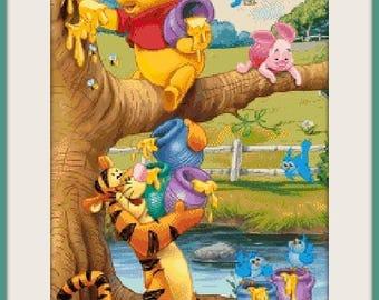 cross stitch pattern, cross stitch, winnie the Pooh 30 - cross stitch pattern - PDF pattern - instant download!