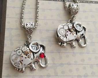 Steampunk, Steampunk Necklace, Elephant Jewelry, Steampunk,  Necklace, Neo Victorian, Steampunk Elaphant, Womens Necklace, Small Elephant