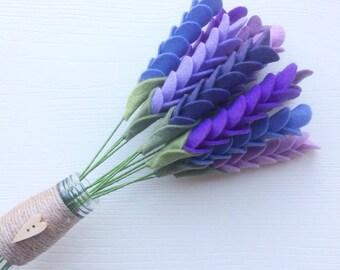 Felt flower craft kit: Felt Spring Blooms (lavender version) - great for beginners