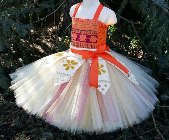 Princess Moana Girls Tutu Dress