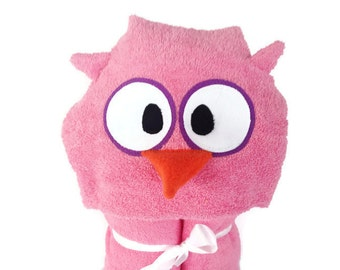 Baby Girl Gift Personalized Girl Baby Shower Gifts for Baby Girl Toddler Girl Gift Personalized Hooded Towels for Kids Owl Hooded Towel