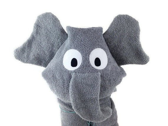 Personalized baby gifts hooded towels elephant baby gift like this item negle Choice Image