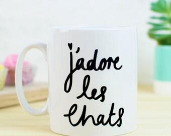 J'adore Les Chats Mug