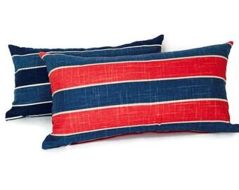 Decorative Lumbar Striped Pillow Covers, P-12-169