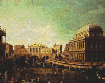 Basilica Di Vecenza And The Ponte De Rialto PDF Cross Stitch Pattern