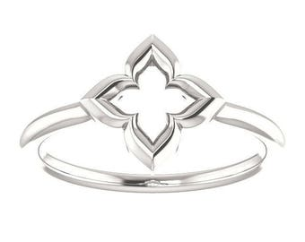 "LIMITED Edition Clover Ring, ""Hope, Faith, Love, and Luck"", Friendship, Promise Ring in Sterling Silver, Slim"