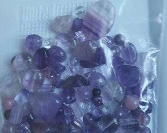 100 Pretty Amethyst Beads