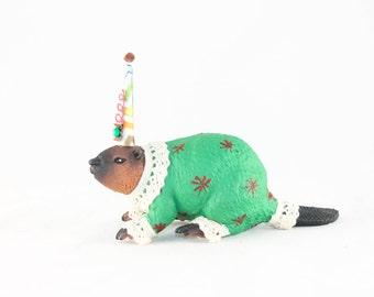 "Party Animal ""Frank"" the Beaver- Cake topper, and birthday decor"