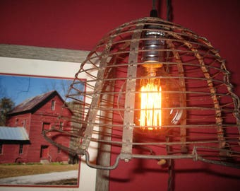 Repurposed Rustic Hanging Light