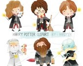 Harry potter clipart Instant Download PNG file - 300 dpi