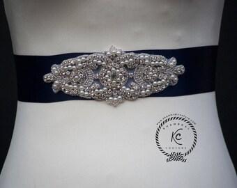 Wedding Belt, Wedding Sash, Rhinestone Sash, Bridal Sash, Bridal Belt, Crystal Rhinestone Belt, Bridesmaid Belt with Felt Backing