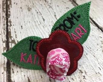Flower Sucker Lollipop Holder - Valentine's Day - Valentine - Candy - Holder-  In The Hoop - DIGITAL Embroidery DESIGN