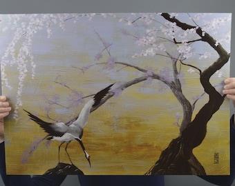 Crane - Anna Karen - reproduction poster 60x40cm - 300g paper
