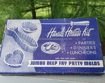 Handi Hostess Kit Jumbo Deep Fry Patty Molds A Bonley Product Tart, Fish & Heart