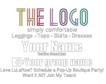 Full Color Car Decal 24 x18, 12 x 9 QR Barcode Personalized Lularoe , younique, direct sales, consultants with group LLR