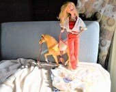 Large Barbie Doll and Horse with Clothes and Shoes Vintage Barbie 1970s Comes as a Set