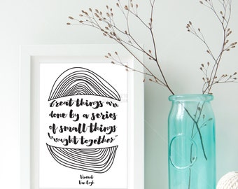 Vincent van Gogh Quote Wall print/ Typography Inspirational Quote/Today Quote/ Best Friend Gift/ Home Decor/ Bedroom Print/ Modern Print