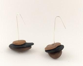 "Stone Earrings ""Trio"""