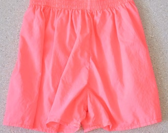 Vintage Neon Salmon Pink Baldo Gianne Italian Club Gym Short Shorts