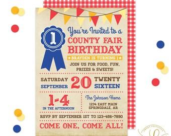County Fair Invitation | County Fair Party | Birthday Party | First Birthday | State Fair Invitation | Carnival Invitation | Carnival Party